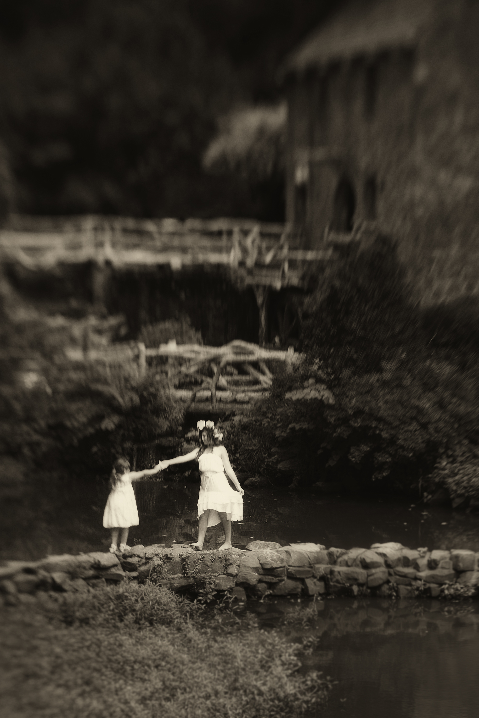 Girls at the Old Mill by John Baltz